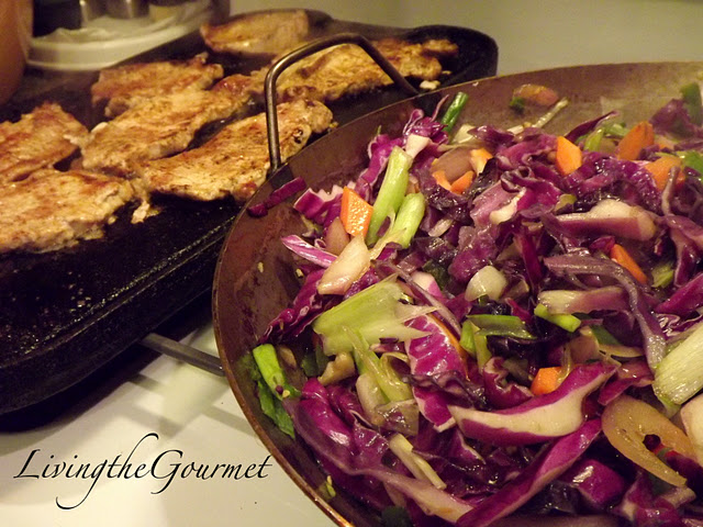 Tasty Sliced Pork Loin with Red Cabbage!!! picture