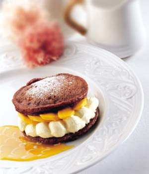 Chocolate Pancakes With Mango Yoghurt picture