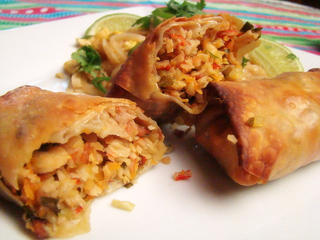 Baked Pork Spring Rolls picture