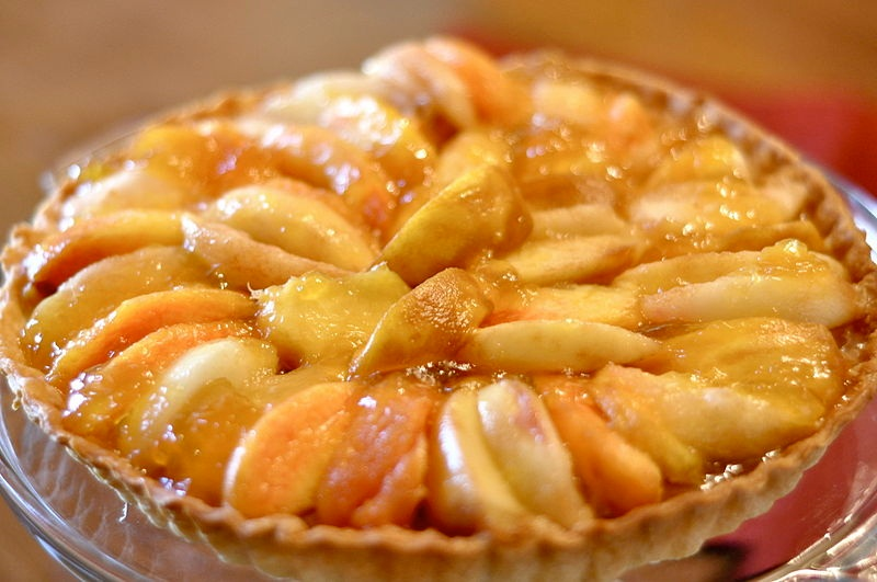 Eggless Peach Chiffon Pie picture