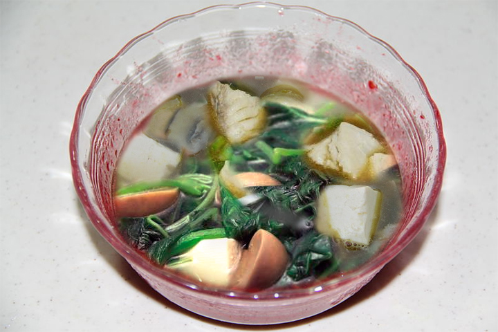 Fish Spinach And Tofu Soup picture