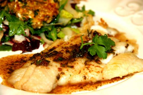 Flounder With Lemon Sauce picture