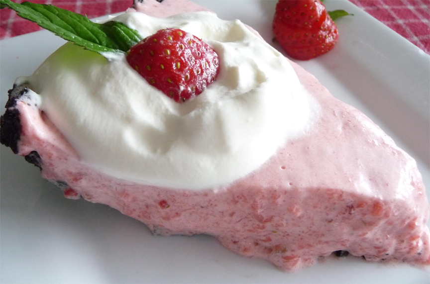 Fresh Strawberry Chiffon Dessert picture