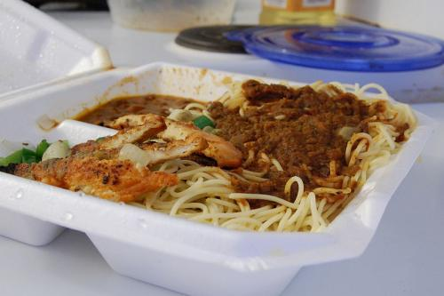 Fricasseed Chicken Breasts With Spaghetti  picture