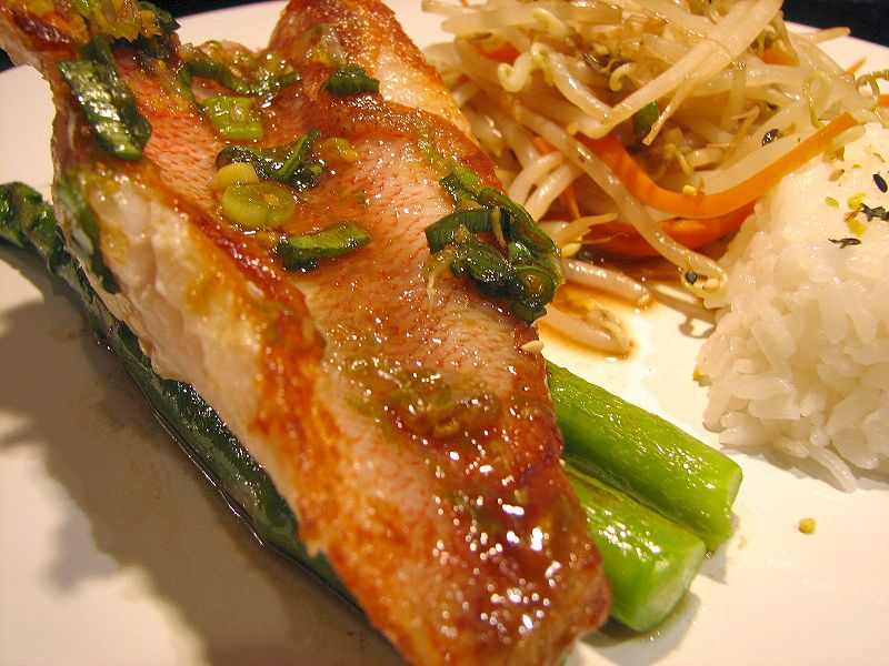 Thai Style Fried Snapper picture