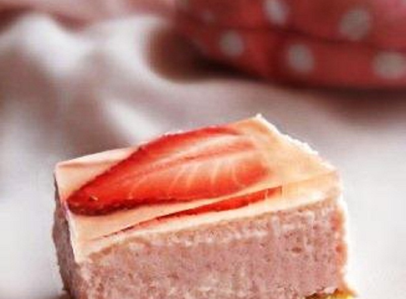 Frozen Cheese and Strawberry Dessert picture