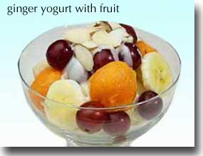 Ginger Yogurt with Fruit  picture