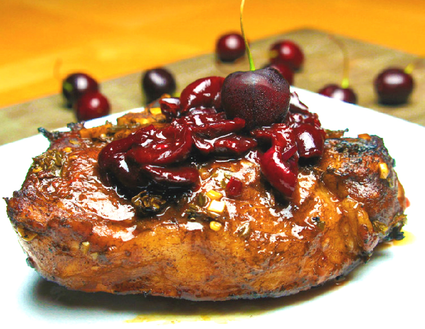 Balsamic Cherry Glazed Pork Chops picture