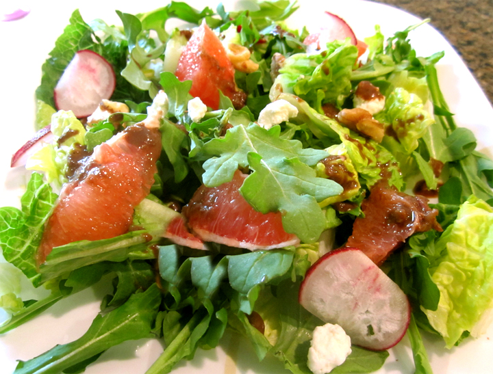 Arugula, Grapefruit, And Goat Cheese Salad picture