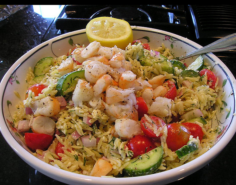 Greek Orzo Salad with Feta and Shrimp picture