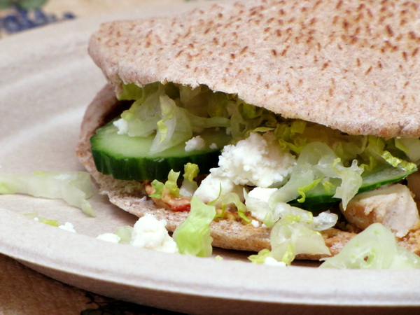 GREEK CHICKEN PITAS  picture