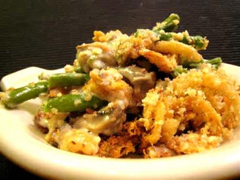 Cauliflower And Green Beans With Cheese Sauce picture