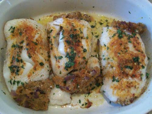 Grilled Halibut With Cheese picture