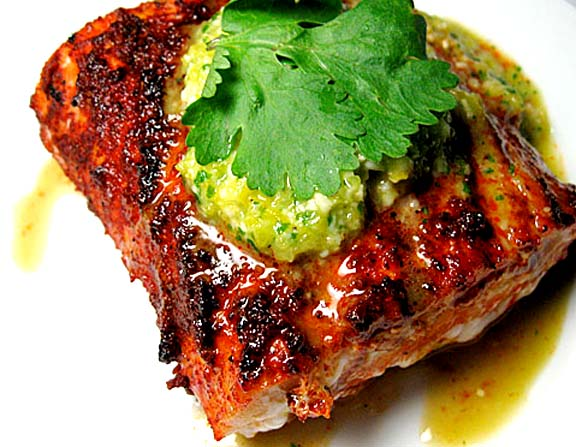 Grilled Mahi Mahi With Tangy Cilantro Sauce picture