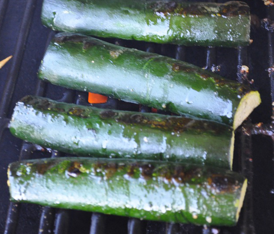 Barbecued Zucchini And Onions picture