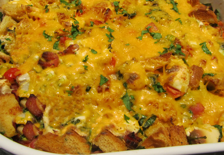 Ham And Cheese On Rye Strata picture