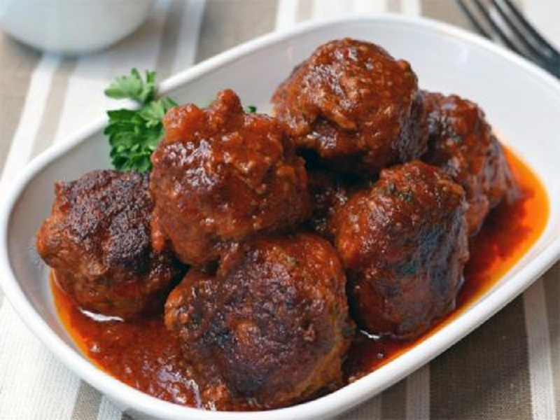 Ham Balls In Berry Sauce picture