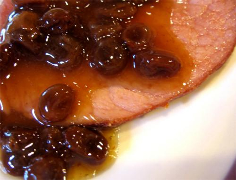 Ham With Spicy Raisin Sauce picture