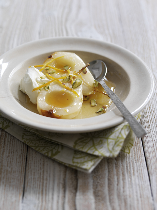 Honey-Roast Pears With Orange-Blossom And Yoghurt picture