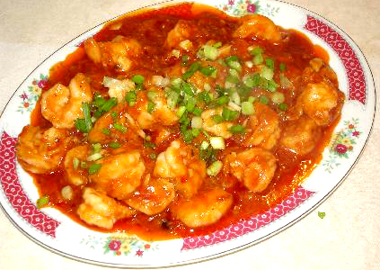 Spicy Garlic Sauce Shrimp Recipe By Osburn Ifood Tv