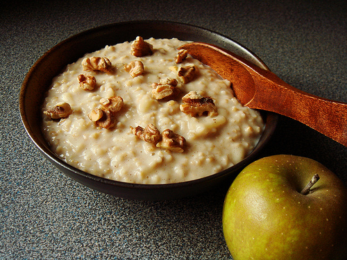 Apple And Oats Pudding