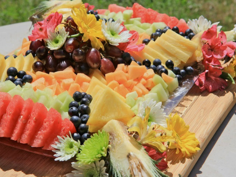 How To Make A Beautiful Fruit Tray Brunch Fruit Platter Recipe Video By DivasCanCook