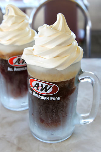 Root beer is a smaal beer with very low alcohol content and a natural fizz similar to carbonated drinks.
