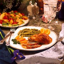 Healthy lunch spread