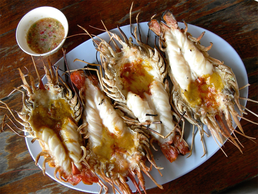 grilled giant prawns recipe by