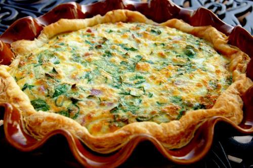 Spinach And Pancetta Quiche