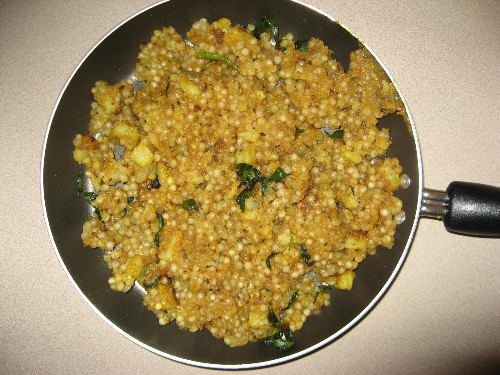 Sabudana Cake Recipe In Marathi: Sabudana Upma/Khichdi Recipe By Snigdha