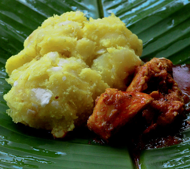 Tapioca and fish curry