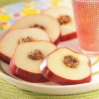 Apple cartwheels - a healthy snack idea