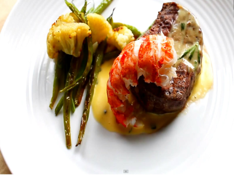 steak with lobster sauce recipe