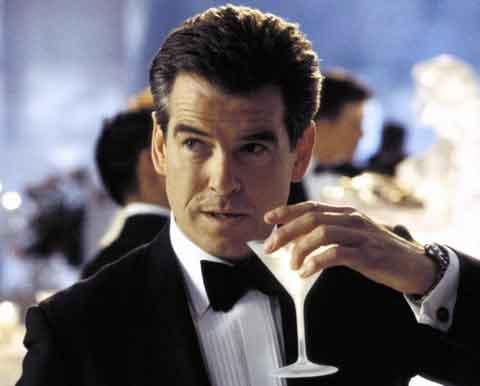 JAMES BOND With His Martini