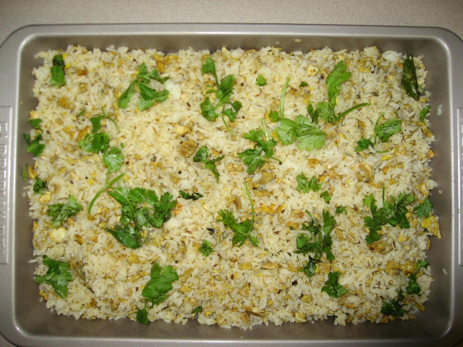 Fried rice using dry rice