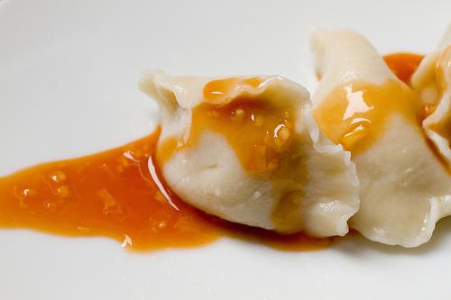 A popular dumpling sauce