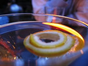 Lemon Martini Garnish