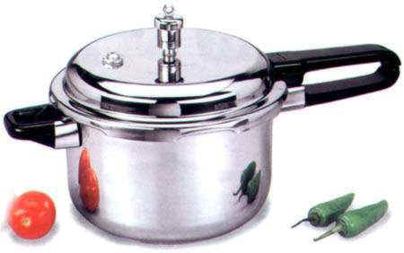 Stainless steel pressure cooker - common type of cooker