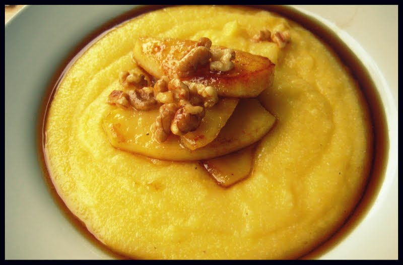 Breakfast Polenta With Figs And Mascarpone Recipe — Dishmaps