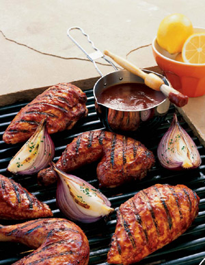 Barbecue chicken is one of the most popular grilled dishes
