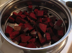 Steaming the beet