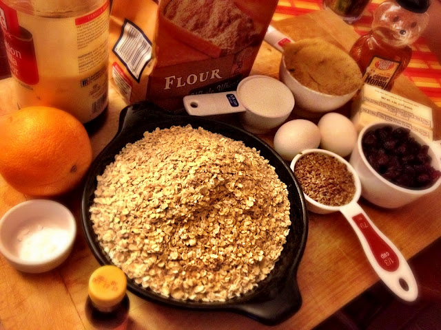 Key ingredients of Orange oatmeal cookies