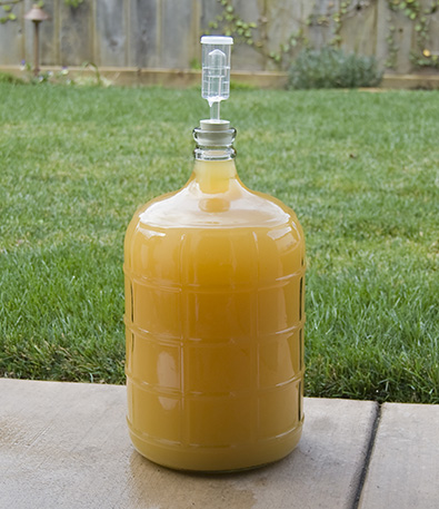 Homemade fermenter for preparing Honey wine