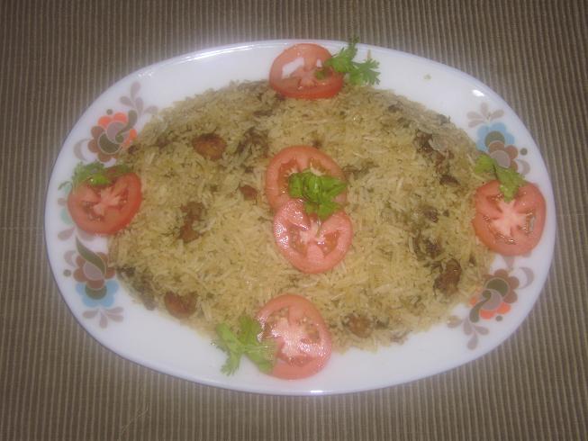 Easy to prepare prawn biriyani for kids