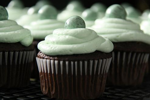 Chocolate and Mint Cupcakes