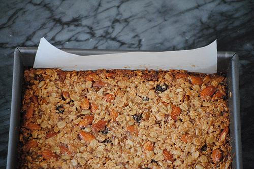 Crunchy bars before being baked