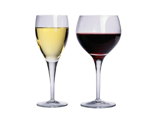 a White Wine Glass and a Red wine Glass.