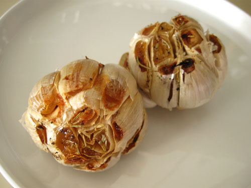 Cook whole garlic