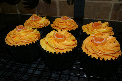 Orange Hazelnut Cupcake